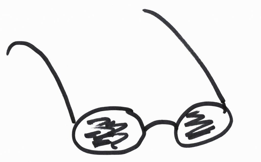 Brille: Übersetzung heisst die Brille wechseln